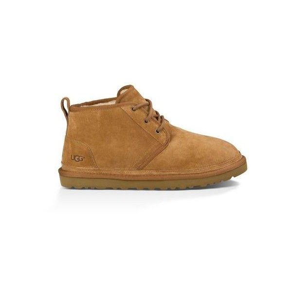 Ugg Neumel Suede Boots ($130) ❤ liked on Polyvore featuring men's fashion, men's shoes, men's boots, chestnut, mens suede chukka boots, mens chukka boots, mens suede shoes, mens suede boots and mens chukka shoes