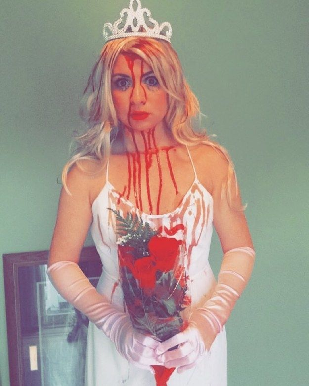 Carrie White from Carrie | 25 Fucking Creepy Costumes That'll Totally Up Your Halloween Game