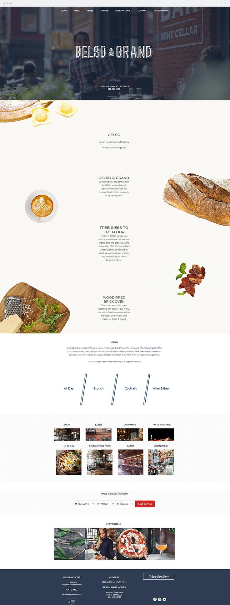 30 best food website design images on pinterest design websites gelso and grand italian restaurant website forumfinder Choice Image
