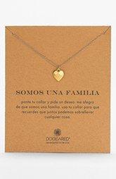 Dogeared 'Somos Una Familia' Boxed Pendant Necklace