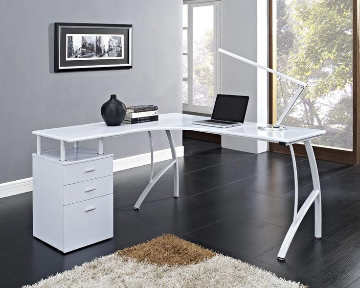 25 best ideas about white corner computer desk on pinterest white corner desk computer desk. Black Bedroom Furniture Sets. Home Design Ideas