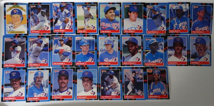 1988 Donruss Texas Rangers Team Set of 25 Baseball Cards #TexasRangers