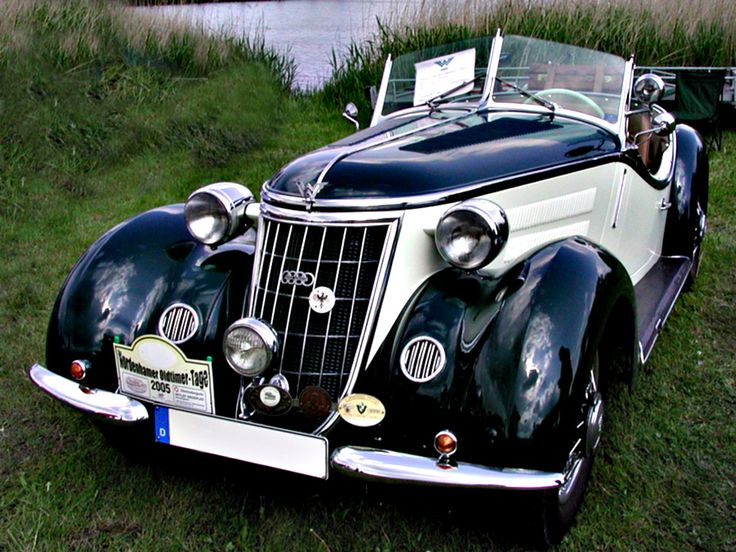 """1936 Audi Wanderer W 25 K Roadster (photo above) -- The Wanderer originated from the machinery factory Winklhofer & Jänicke, established in Chemnitz in 1896. Motorcycles were built from 1902 onwards and cars shortly after that. With export in mind, the more international sounding name """"Wanderer"""" was adopted in 1911. During the Depression in 1929 the bank decided to dismantle the company which was in dire straits."""