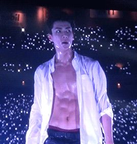 Sehun!look at this sexy dork all wet ,sweaty and panting!do's any girl can wich better wet dream?