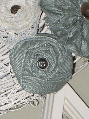 Flat Folded Rosettes & A Lamp Shade