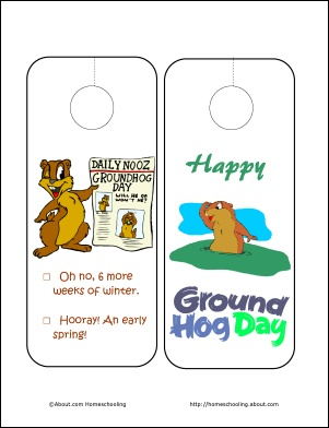 groundhog day door hangers