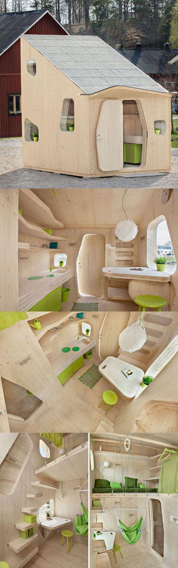 Smart Student Unit , maison d'étudiant individuelle totalement équipée. Par le studio Tengbom Architects en collaboration avec Martinsons et AF Bostäder