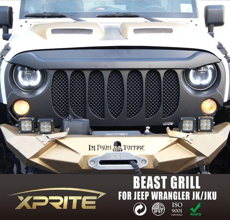 Xprite BEAST GRILLE Front Matte Black with Built-In Mesh for Jeep Wrangler JK | eBay Motors, Parts & Accessories, Car & Truck Parts | eBay!