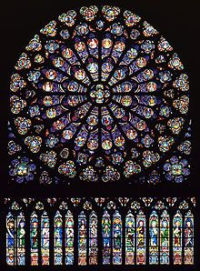 Notre Dame Cathedral, Paris.   South Rose Window