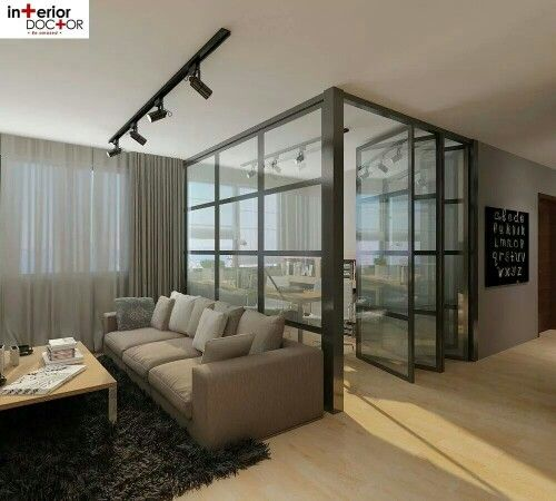 Living room glass door
