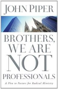 """Free for Logos - """"Brothers, We Are Not Professionals"""" by John Piper - http://faithdeals.com/books/free-logos-brothers-professionals-john-piper/ -  Use codePAM2013 at checkout. Uses Logos Bible Software.  https://www.logos.com/product/4075/brothers-we-are-not-professionals"""