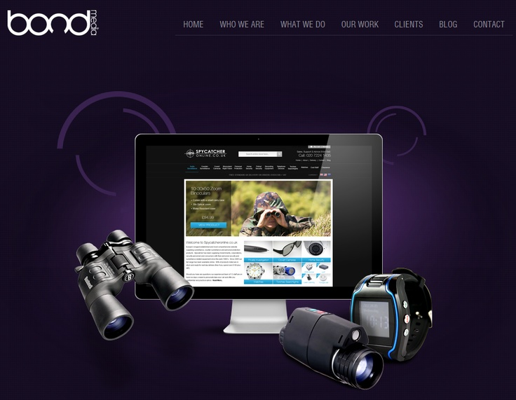 SPYCATCHER ONLINE ~  Online have some of the greatest spy gadgets for sale on the web. Being that the products are at the high end of gadgetry the site really had to focus on showing the quality of the products on offer by high quality photography which the client commissioned. There was a clear need to break out the specifications of each product enabling the customer to understand the features.