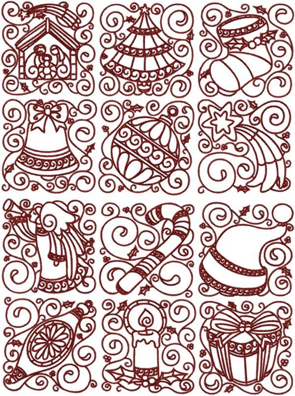 60 Best Embroidery Xmas Redwork Images On Pinterest Christmas