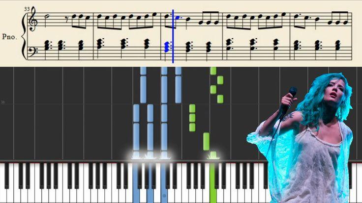 Halsey - Colors - Piano Tutorial + Sheets