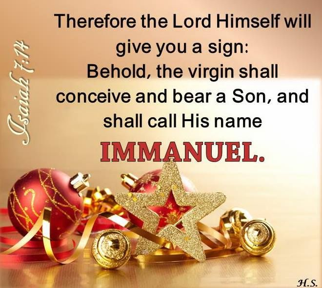 Isaiah 7:14 Merry Christmas To All.... One Nation Under God