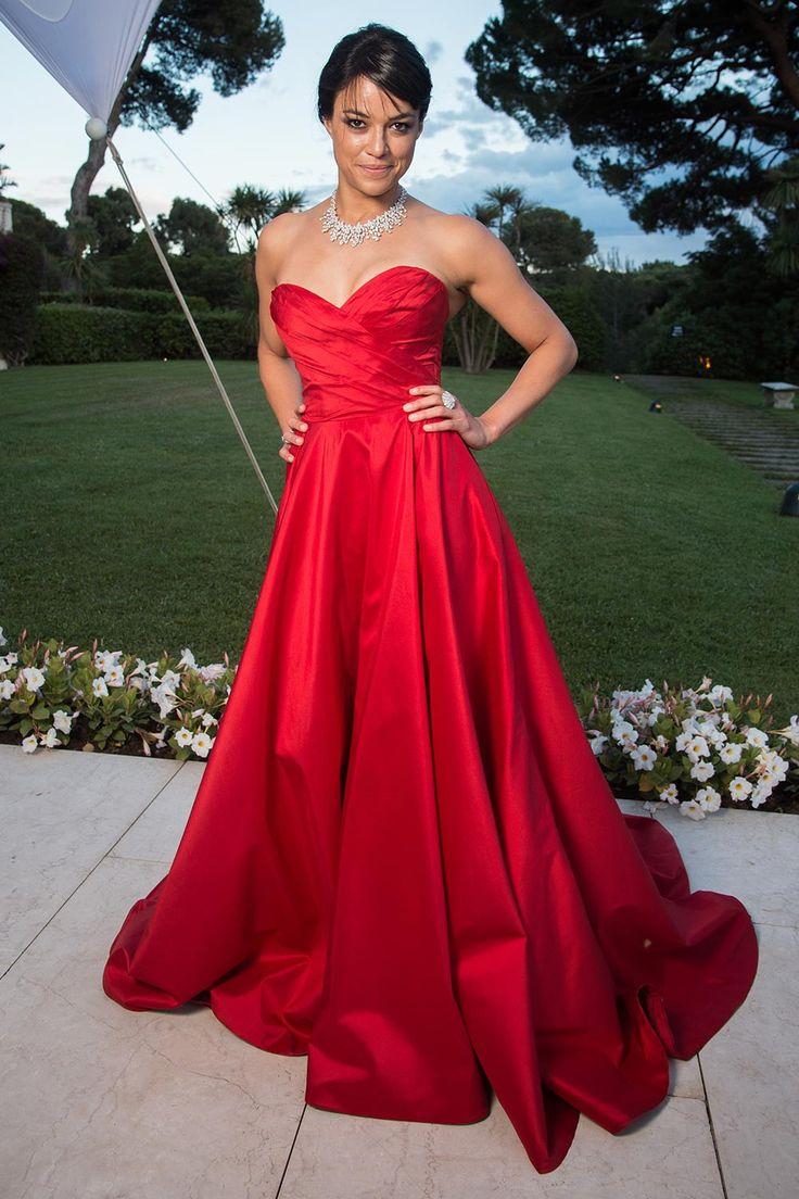 Michelle Rodriguez in Romona Keveza - amfAR Gala at Cannes Film Festival 2015 | Harper's Bazaar