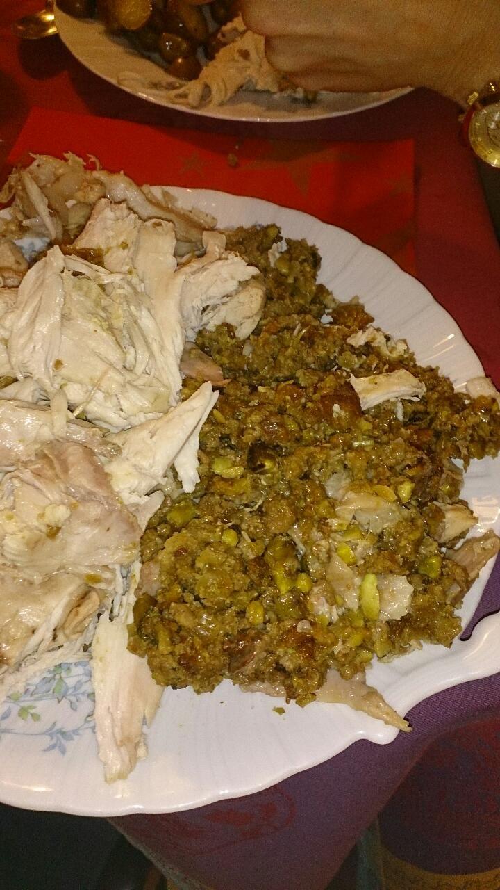 kerstdiner, diner, kalkoen, gevulde kalkoen, kastanje, gerecht, recept. http://www.verlenn.nl/kerstfeest-bij-mijn-moeder/