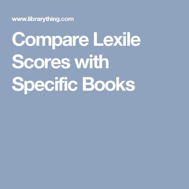 Compare Lexile Scores with Specific Books