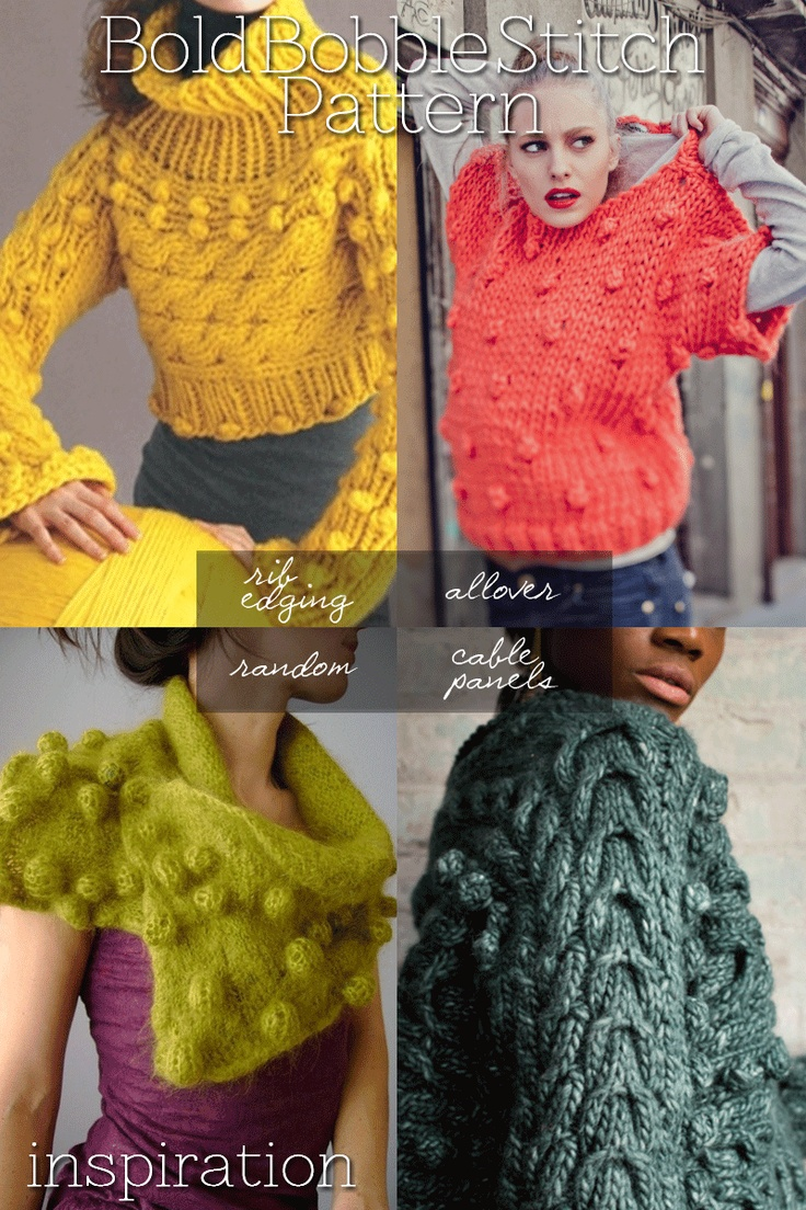 118 best knit bbles images on pinterest knit stitches cast bobbles supersized inspiration tutorials and free patterns bankloansurffo Images