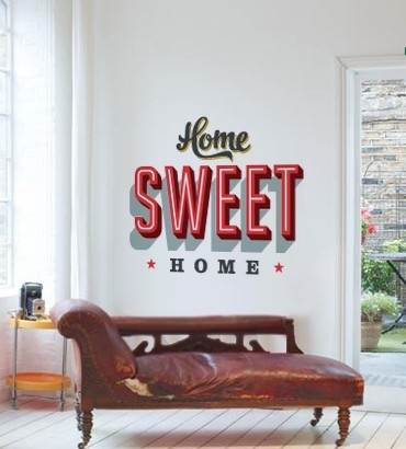 Streetwallz - Home Sweet Home Wall Decal, $120.00 (http://www.streetwallz.com/home-sweet-home-wall-decal/)