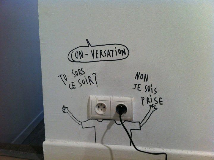 """"""" Surprise ! """" / Street art. / By Sandrine Estrade Boulet."""