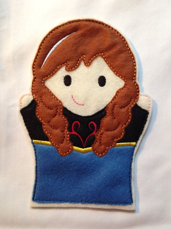Hand Puppet--Cold Sister A on Etsy, $4.50