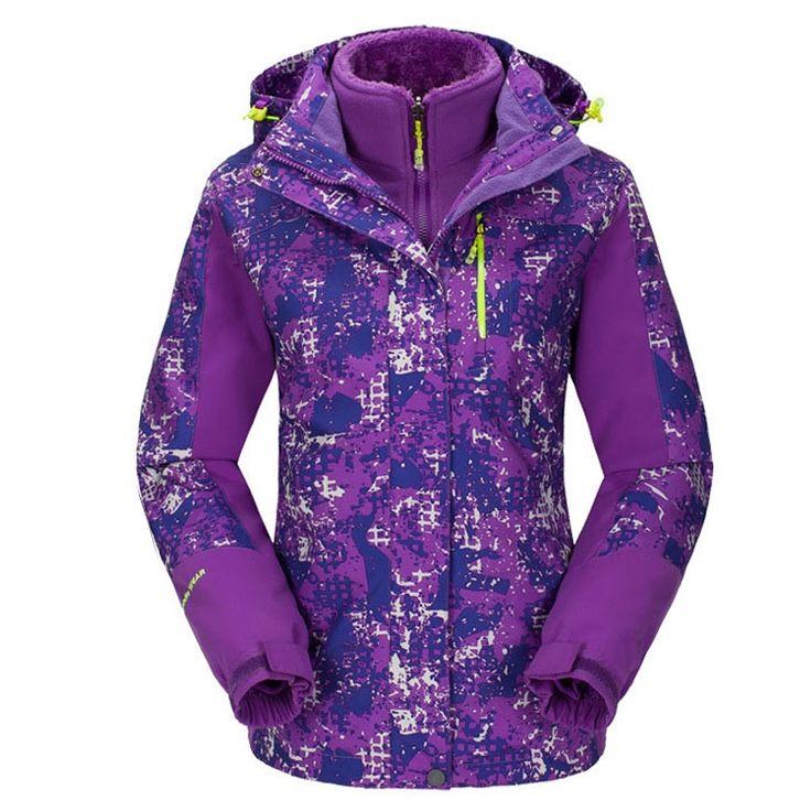 63.99$  Watch here - http://alit2j.worldwells.pw/go.php?t=32764195613 - Plus Size ski jacket women windstopper snowboard jacket waterproof snow jackets plus fleece Mountaineer hiking ski suit  63.99$