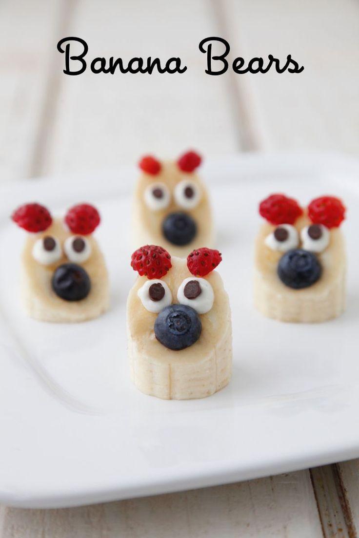 Ce gouter en fera craquer plus d'un : les teddy bananes, on est fan ! #kiri #recette #kids #food #recipe #teddybear #cute #yummy #enfant #snack #gouter