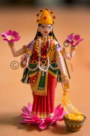 Quilled Goddess Laxmi by Prajakta N
