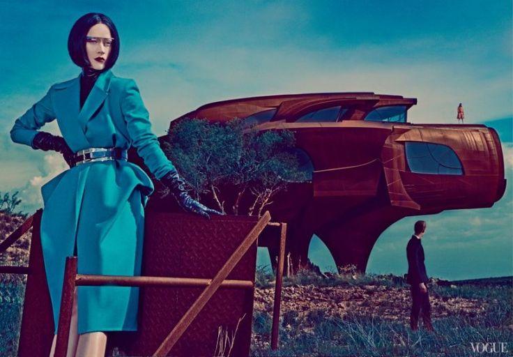 Google Glass - Vogue #googleglass #vogue #fashion #futuristic #surreal