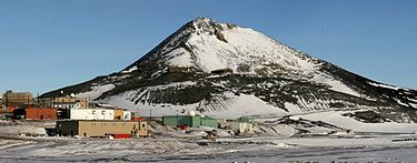 Observation (Ob) Hill, Ross Island, Antarctica. I climbed this hill in 1995 when I was stationed there in the Navy. I lived in the red buildings at the bottom of the hill. Loved this place!!