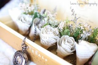 #wedding #boutineer #paper flower