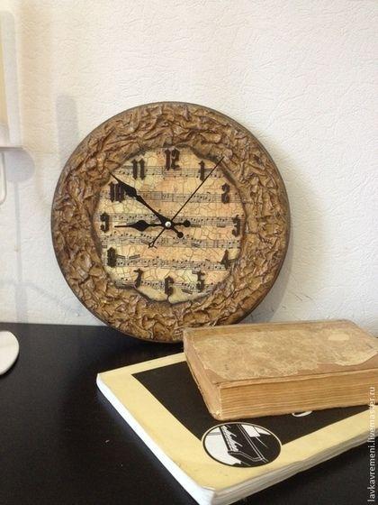 """Часы для дома ручной работы. Заказать Часы """"Очень старая мелодия"""". Elena. Ярмарка Мастеров. Часы в кабинет, часы в спальню"""