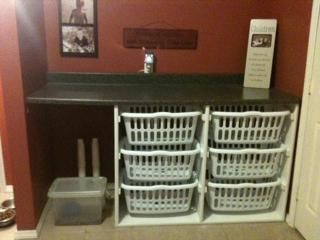 Laundry Basket Dresser/folding Station   Wonderful Idea With So Many  Different Options For Use