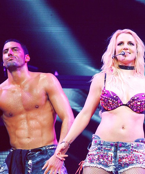 Britney Spears,and her Dancer:The Femme Fatale Tour