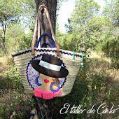 Capazos decorados y personalizados con aire muy flamenco.