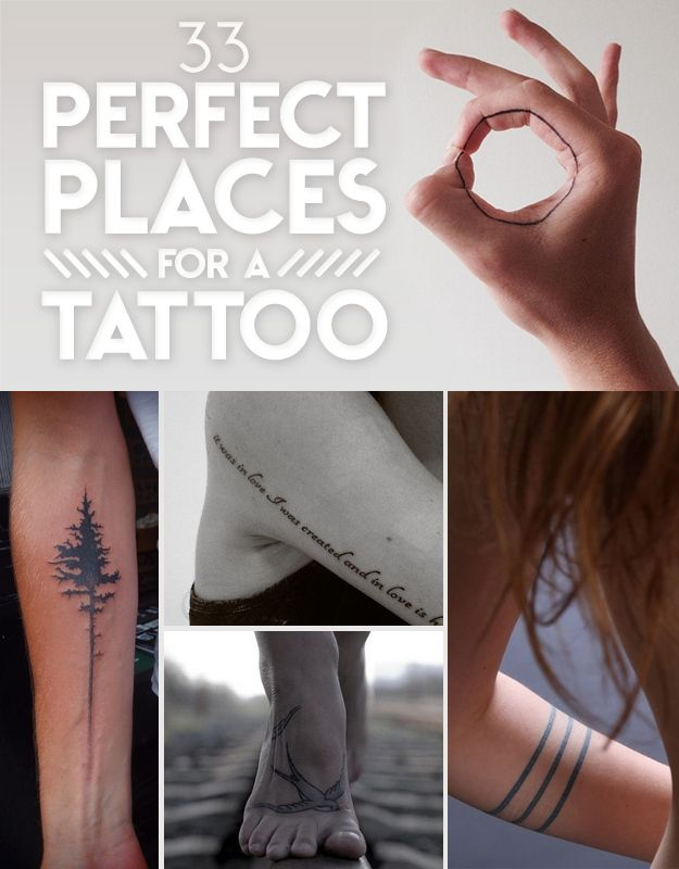 33 Perfect Places For ATattoo | sooziQ