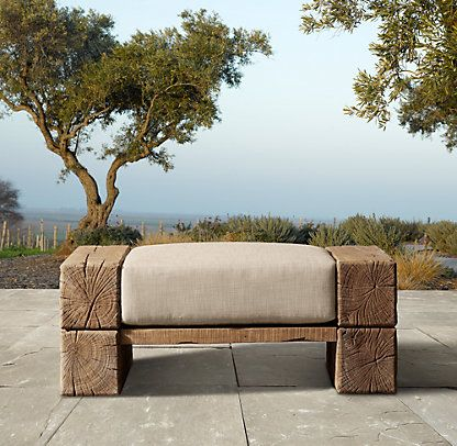 RHu0027s Aspen Ottoman:Weu0027ve Interpreted The Earthiness And Strength Of A  Scandinavian Artisan Design By Søren Rose In The Aspen Collection.