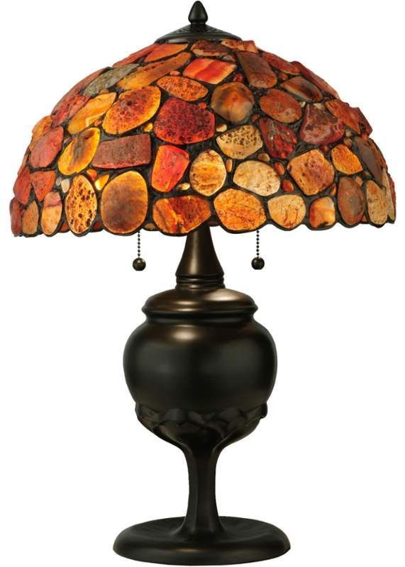 Meyda Tiffany 138126 Mahogany Bronze 2 Light 24 Tall Hand Crafted Table Lamp With Stained Glass Red Table Lamp Table Lamp Lamp
