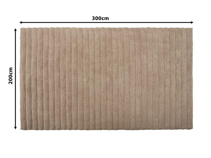 Dywan beżowy - 200x300 cm - Shaggy - poliester - MUGLA