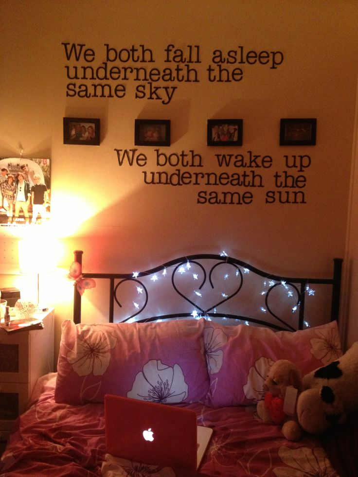 5sos song lyrics on wall bedroom pinterest 5sos for Room decor ideas quotes