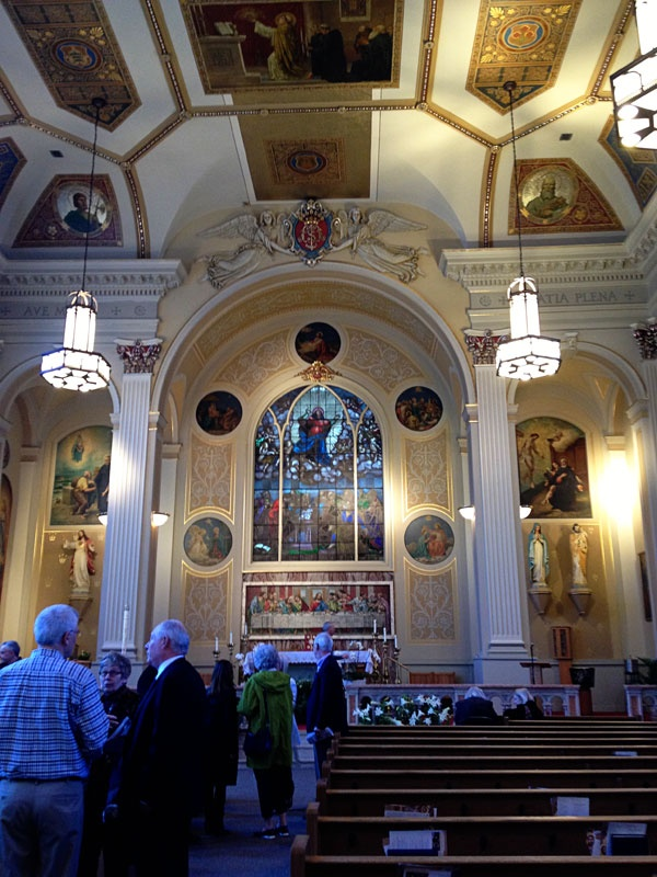 Assumption Church Chicago.  A very lovely, yet small and intimate church located downtown.
