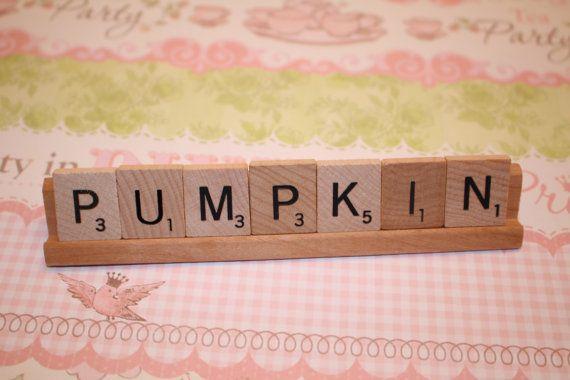 Halloween Baby, Babydouche, Pompoen, Herfst, Pompoendecoratie, Herfstbabydouche, Kleine Pompoen, Scrabble, Douche Decor, Herfst Decor, Baby