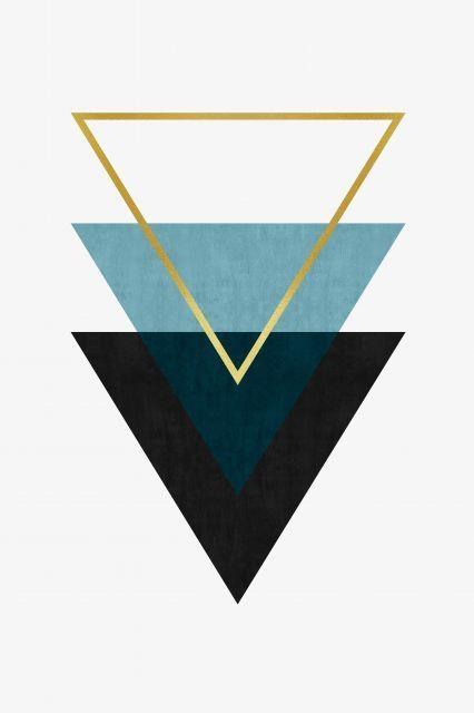 Poster - Triângulos Minimalistas