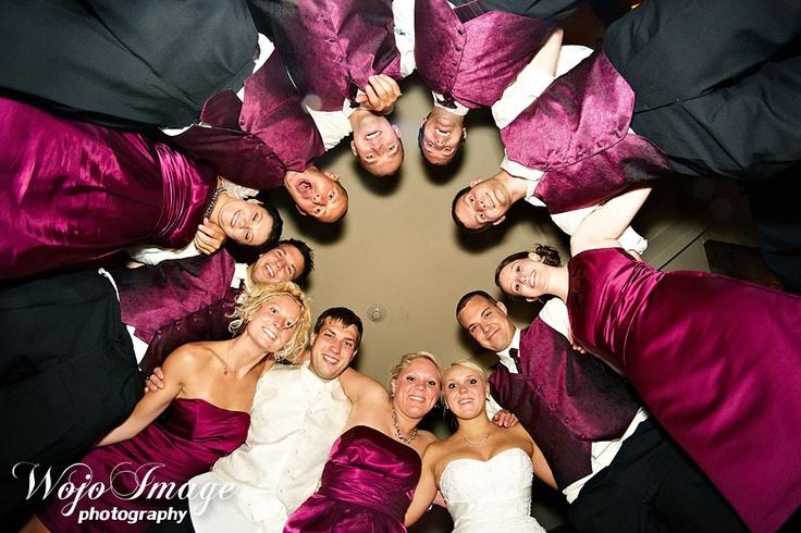 reception bridal party photo