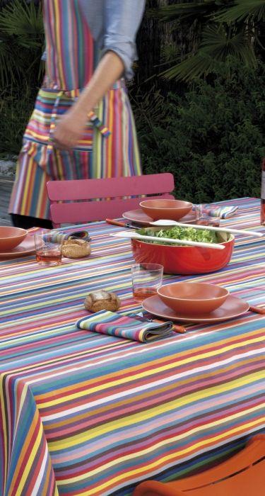 Table colorée Nappe coton