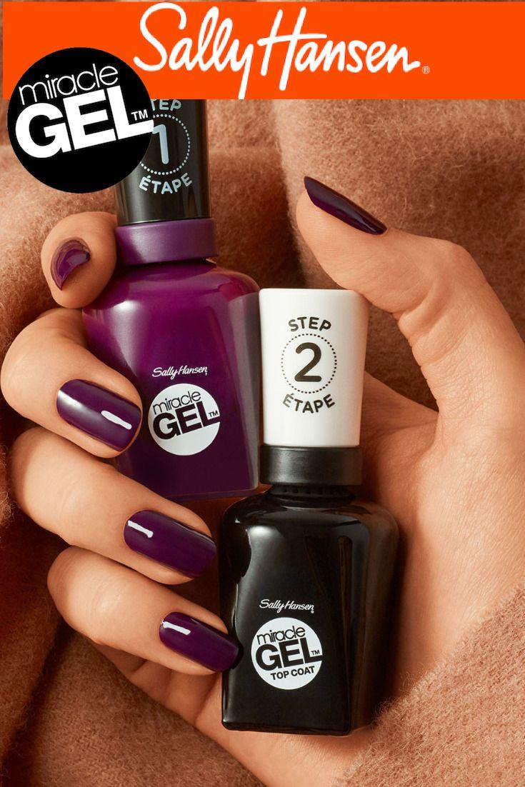 Autumn Purple Nail Color From Sally Hansen Nail Polish Purple Nails Cute Acrylic Nails