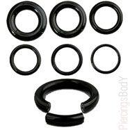 "Black Titanium/Stainless Steel Segment Rings with 1/2"" diameter"
