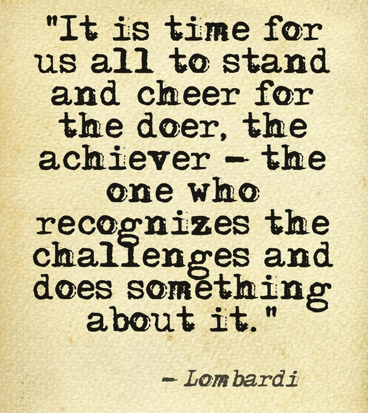 Stand and cheer for the doer, the achiever... Get involved with the Vince Lombardi Cancer Foundation!