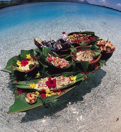 Tahitian Feast for a Motu Picnic
